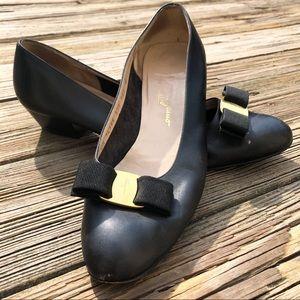 Salvatore Ferragamo Shoes - Salvatore Ferragamo vintage Leather Block Heels
